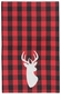 Now Designs Buffalo Check Deer Dishtowel