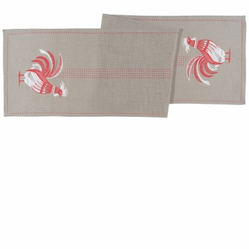 Now Designs Burlap Rooster Table Runner