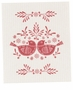 Now Designs Dishcloth Swedish Folk Feathers