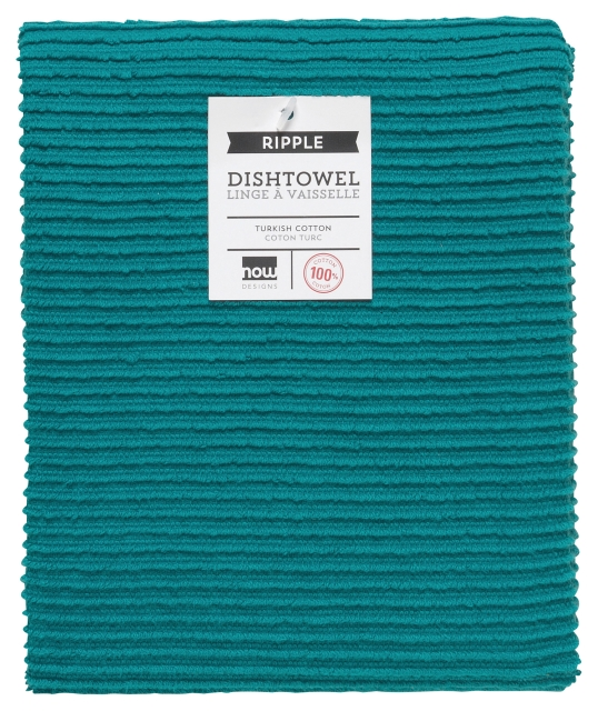 now designs kitchen towel ripple peacock
