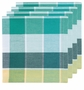 Now Designs Napkin Field Day Aqua Plaid Set of 4