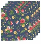 Now Designs Napkin Midnight Garden Set 4
