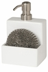 Now Designs Soap Pump and Scrub or Sponge Holder White