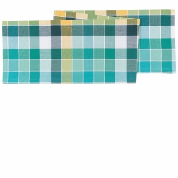 Now Designs Table Runner Field Day Aqua Plaid