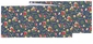 Now Designs Table Runner Midnight Garden Floral Pattern