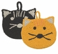 Now Designs Tawashi Animal Scrubbers Calvin Cat Set of 2