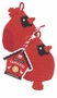 Now Designs Tawashi Scrubbers Cardinals Set of 2