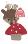 Now Designs Tawashi Toadstool and Reindeer Dish Scrubber Set of 2
