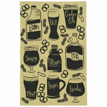 Now Designs Tea Towel Chambray Craft Brew