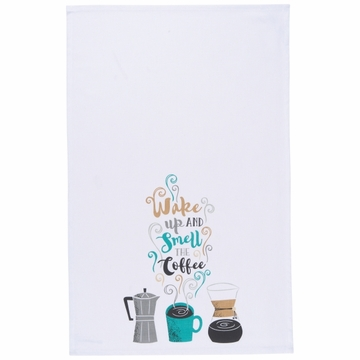 Now Designs Tea Towel Wake Up Coffee