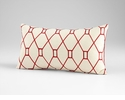 Obstruction Red Decorative Pillow by Cyan Design