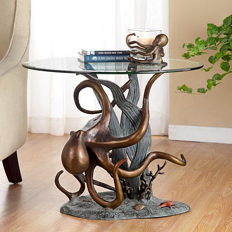 Octopus And Seagrass End Table By SPI Home