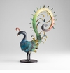 Ornate Colorful Iron Bird Sculpture by Cyan Design