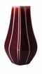 Dessau Home Oxblood Stripe Square Vase Home Decor
