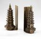 Pagoda Iron Gold Leaf Bookends by Cyan Design