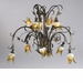 Papillion 12 Light Amber Glass Chandelier by Cyan Design