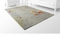 Parakeet Multicolor Rug Polyester 9.6'x 7.6' by Cyan Design