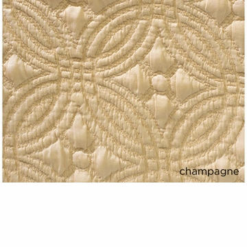 Peacock Alley Lucia 115X98 King Coverlet Champagne