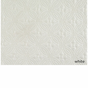 Peacock Alley Lucia 115X98 King Coverlet White