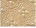 Peacock Alley Lucia 72X92 Twin Coverlet Champagne