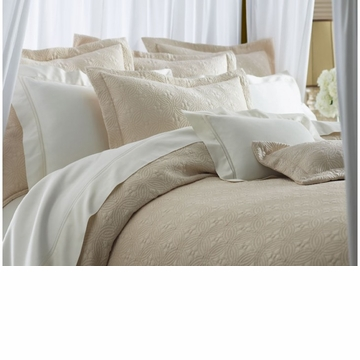 Peacock Alley Lucia 72X92 Twin Coverlet Platinum