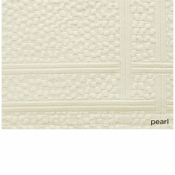 Peacock Alley Montauk 115X98 King Coverlet Pearl