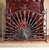 Peacock Fireplace Screen by SPI Home