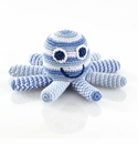Pebble Octopus Rattle - Pale Blue
