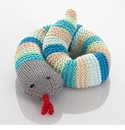 Pebble Snake Rattle - Turquoise