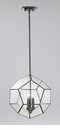 Pentagon Oiled Bronze Pendant Light by Cyan Design