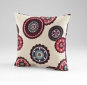 Peony Fuchsia Decorative Pillow by Cyan Design
