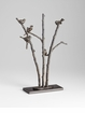 Perched Birds Iron Sculpture - Granite Base by Cyan Design