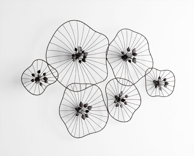 Percival Iron Wire Floral Wall Decor By Cyan Design