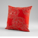 Petunia Red Decorative Pillow by Cyan Design