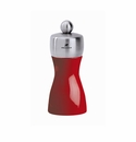Peugeot Fidji Pepper Mill 4 3/4in - Stainless Steel/Red Lacquer