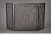 Pewter Mesh Geometric Firescreen Home Decor
