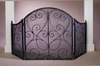 Pewter Scroll Firescreen with Mesh Screen Home Decor