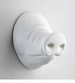 Pig Snout Plaster White Wall Decor by Cyan Design