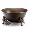 Pinecone And Leaf Beverage Tub by SPI Home