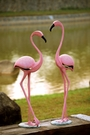 Pink Flamingo Pair Sculpture by SPI Home
