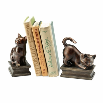 Playing Cat Resin Bookend Pair by SPI Home