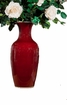 Dessau Home Porcelain Oxblood Vase Home Decor