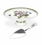Portmeirion Botanic Garden Footed Cake Plate with Server (Sweet Pea)