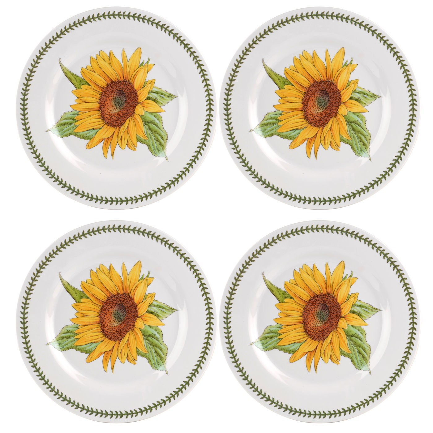 Portmeirion Botanic Garden Melamine Dinner Plates Set of 4 ...