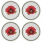 Portmeirion Botanic Garden Melamine SaladPlates Set of 4 (Poppy)