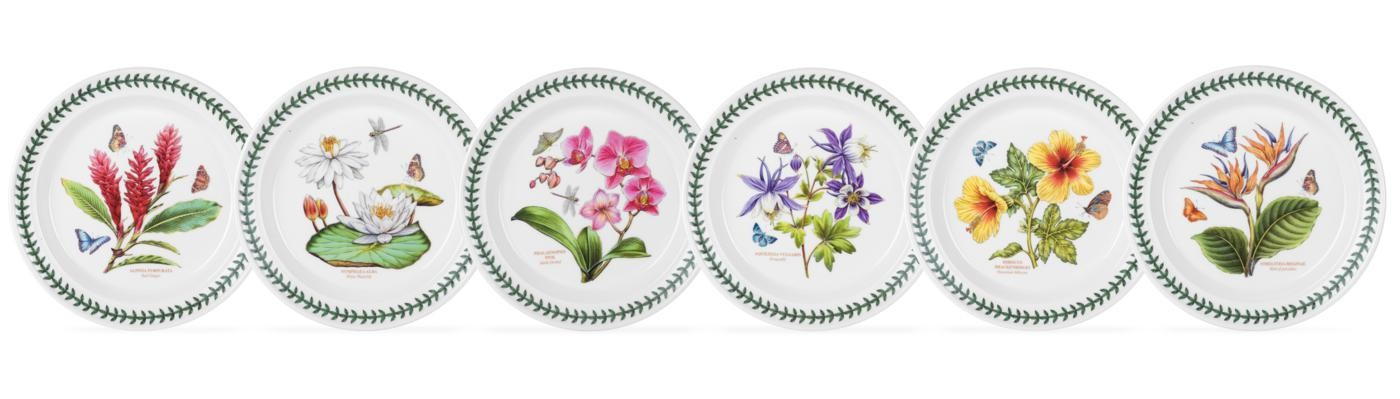 Portmeirion Exotic Botanic Garden Set of 6 Assorted Dinner Plates  sc 1 st  Distinctive Decor & Portmeirion Exotic Botanic Garden Set of 6 Assorted Dinner Plates ...
