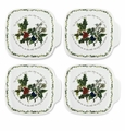 Portmeirion Holly and The Ivy Set of 4 Canap� Plates
