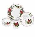Portmeirion Holly Cardinal 4 Piece Place Setting