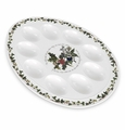 "Portmeirion Holly & Ivy 12"" Deviled Egg Plate"
