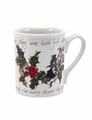 Portmeirion Holly & Ivy 9 Ounce Breakfast Mugs (Set of 6)
